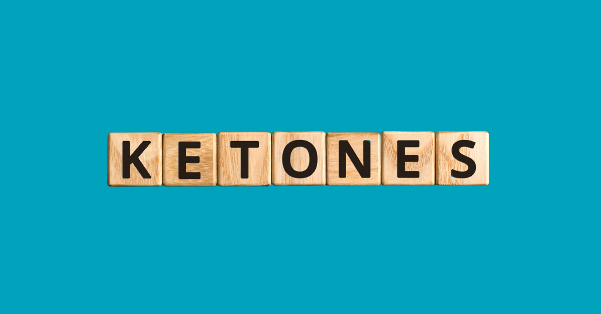 Scrabble pieces spelling KETONES