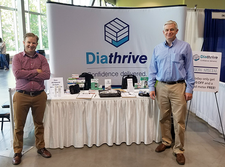 Ben Lonsdale & Michael Hennessy at the Diathrive Booth
