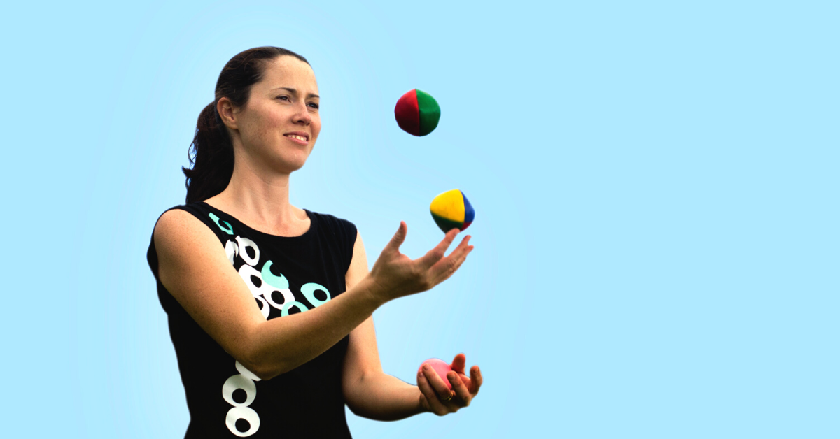 Woman Juggling to represent multiple chronic conditions