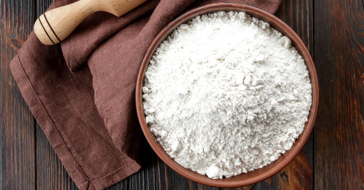 Bowl of white flour