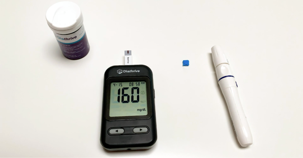 Diathrive glucometer with 160 reading