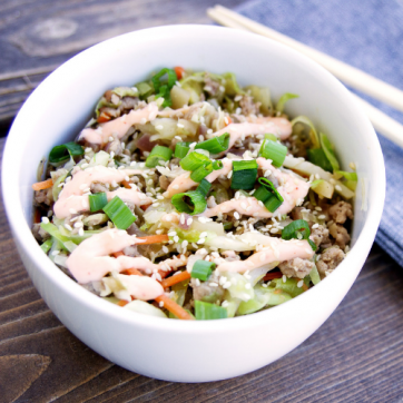 Egg Roll Rice Bowl